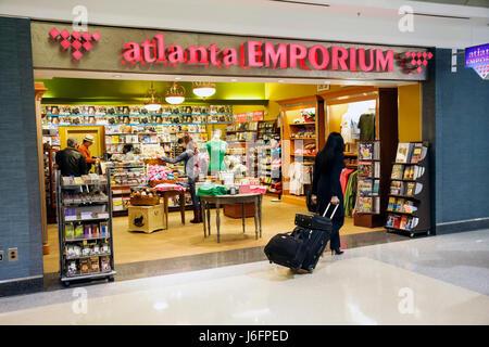 Géorgie, Sud, Peach State, Atlanta, Hartsfield Jackson aéroport international d'Atlanta, Emporium, magasin, magasins, Banque D'Images