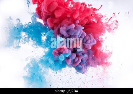 Dans l'encre de couleur de fond de l'eau Banque D'Images