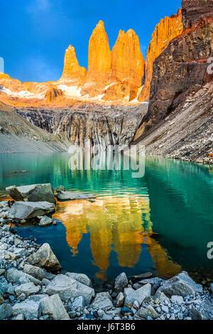 Parc National Torres del Paine, Patagonie, Chili Banque D'Images