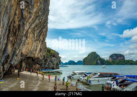 Les touristes sur les îles de Phuket, Thaïlande