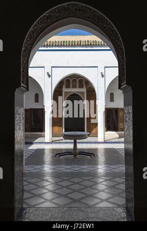 Palais de la Bahia, Marrakech, Maroc Banque D'Images