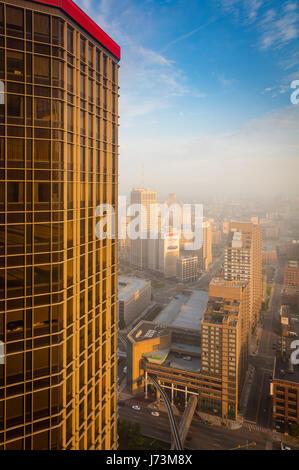 Detroit est la ville la plus peuplée de l'État américain du Michigan, la quatrième plus grande ville du Midwest Banque D'Images