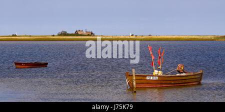 Bateau de pêche sur l'île de Poel, près de Wismar Banque D'Images