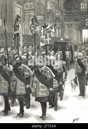 Les funérailles du duc de Wellington 1852 Banque D'Images