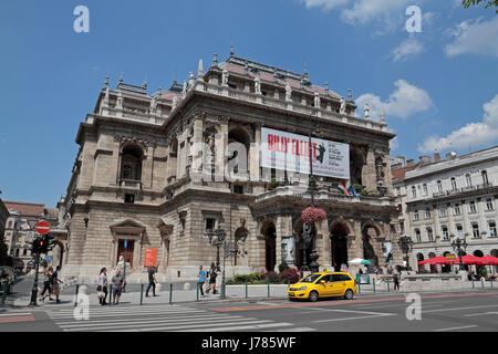 L'Opéra d'État hongrois (Magyar Allami Operahaz) à Budapest, Hongrie. Banque D'Images