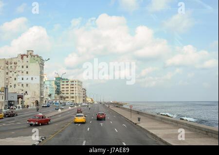 L'avenue Malecon de La Havane, Cuba Banque D'Images