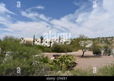 Vue extérieure de la Biosphère 2, Arizona, États-Unis d'Amérique Banque D'Images