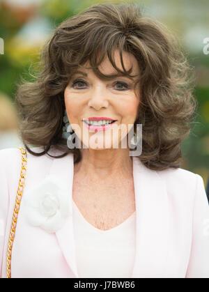 L'actrice Joan Collins à la RHS Chelsea Flower Show 2017 Banque D'Images
