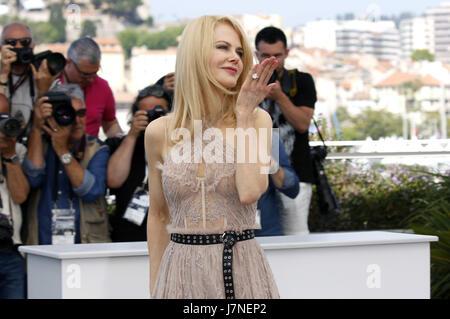 Cannes, Frankreich. 24 mai, 2017. Nicole Kidman à 'la séduisit/Die Verführten' photocall au cours de la 70e édition Banque D'Images