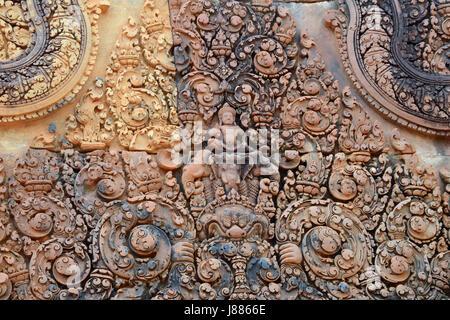 Temple de Banteay Srey, Province de Siem Reap, Cambodge Banque D'Images
