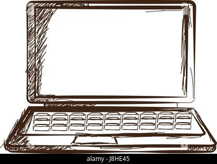 Croquis à main portable gadget doodle gravé Banque D'Images