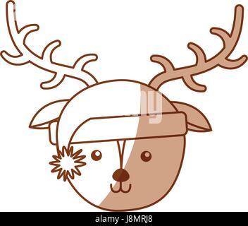 Ombre Cute Cartoon Face Cerf Vecteurs Et Illustration Image