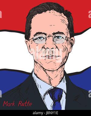 Homme politique néerlandais, Mark Rutte, Premier Ministre des Pays-Bas depuis 2010, chef du parti populaire pour Banque D'Images