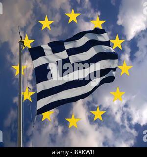 crise de la Grèce Banque D'Images
