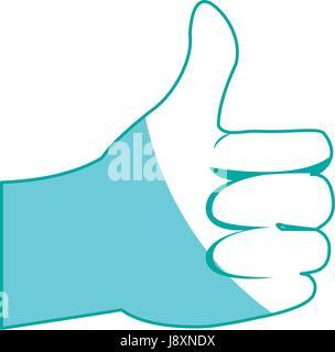 L'homme à la main ok, comme l'icône des gestes Banque D'Images