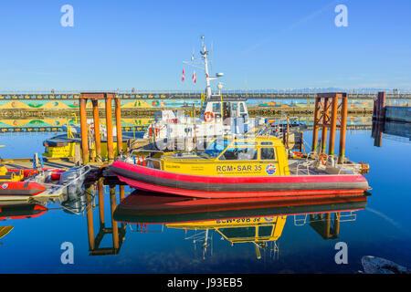 Royal Canadian Marine, bateaux de recherche et sauvetage, Ogden Point, Victoria, île de Vancouver, Colombie-Britannique, Banque D'Images