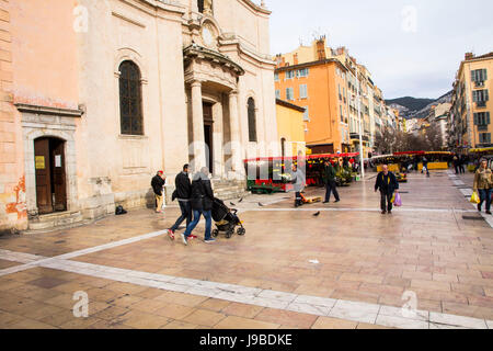 Entrée au marché du Cours Lafayette à Toulon, France. Banque D'Images