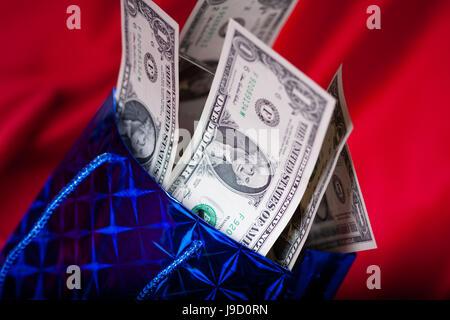 Dollar, Dollar, présent, cadeau, Noël, de dépôt, d'imaginer, comptant, cold cash, Banque D'Images