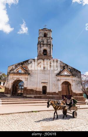 Chariot connu localement comme une coche, Trinidad, Site du patrimoine mondial de l'UNESCO, Cuba, Antilles, Caraïbes, Amérique Centrale