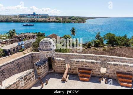 Le Castillo de Jagua, fort érigé en 1742 par le roi Philippe V d'Espagne, près de Cienfuegos, Cuba, Antilles, Caraïbes