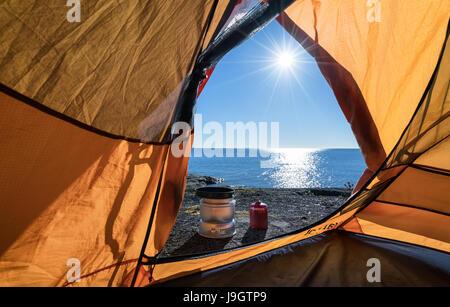 Matin ensoleillé dans l'archipel finlandais, Sunday, la Finlande, l'Europe, l'UNION EUROPÉENNE Banque D'Images