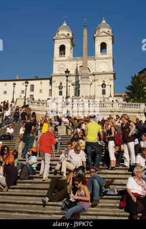Italie,Rome,escaliers,espagnol,tourisme,ville,escaliers,eglise,les,personne,vacances,Tourisme d'intérêt, Banque D'Images