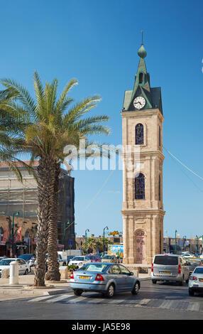 La vieille ville de Jaffa clocktower à Tel Aviv Israël vieille ville Banque D'Images