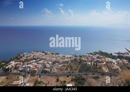 Ville, ville, plage, mer, la plage, mer, nageurs, cité, ville, pierre, Banque D'Images