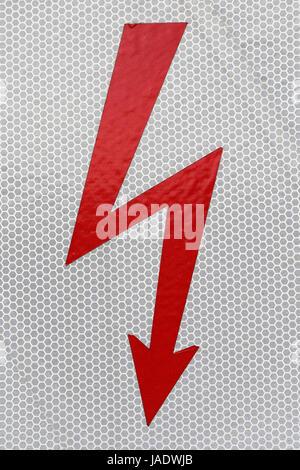 Blitz Hochspannung symbole Banque D\'Images, Photo Stock: 82564800 ...