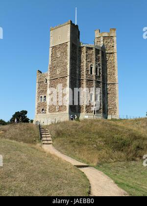 Château d'Orford a été construit entre 1165 et 1173 par Henri II d'Angleterre pour consolider le pouvoir royal dans Banque D'Images