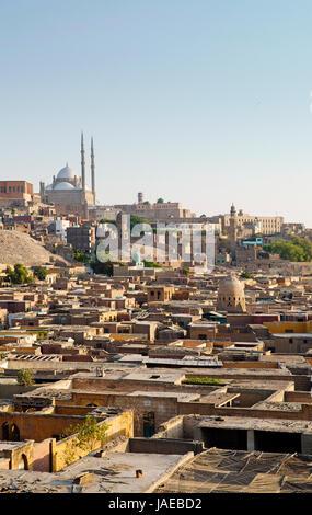 Cité des morts et de la Citadelle du Caire, en Egypte Banque D'Images
