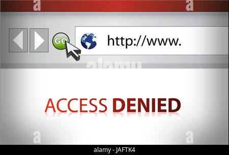 Accès refusé Site Web illustration design Banque D'Images