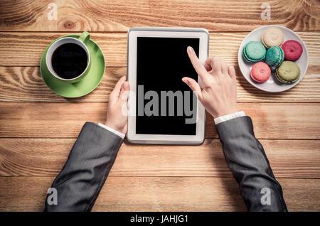 Businesswoman having pause café Banque D'Images