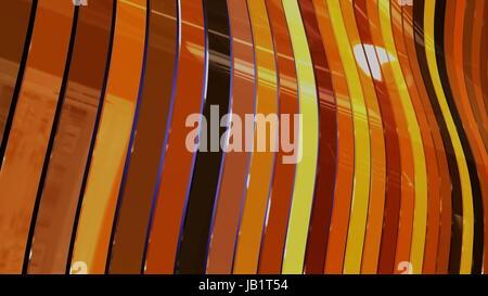 Rubans colorés - diagonal résumé en mouvement de vague Banque D'Images