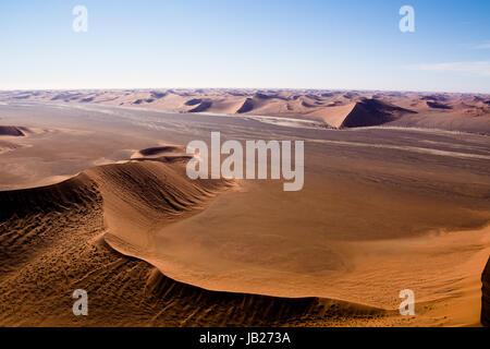 Vue aérienne des dunes de Sossusvlei Banque D'Images