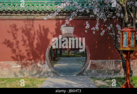 9 juin 2017 - Pékin, Pékin, Chine - Palais d'Abstinence se trouve au nord-ouest du monticule circulaire autel et Banque D'Images