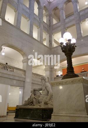 Intérieur de l'édifice municipal à Minneapolis, Minnesota, USA. Banque D'Images