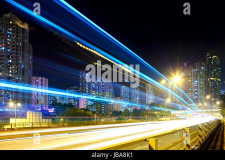 La circulation en ville la nuit