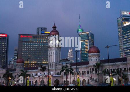 Kuala Lumpur, Malaisie - 5 mai 2017: la place de l'indépendance, dataran Merdeka, est une destination touristique Banque D'Images