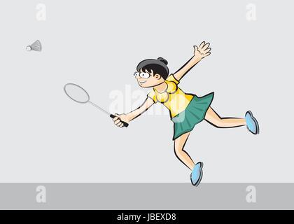 Woman. Image illustration sport conceptuel. Banque D'Images