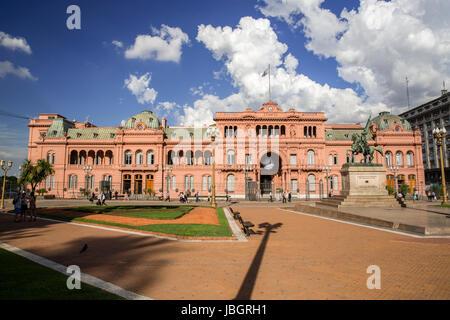 Où Palais présidentiel de Evita Parone a donné son célèbre discours à Buenos Aires, Argentine Banque D'Images