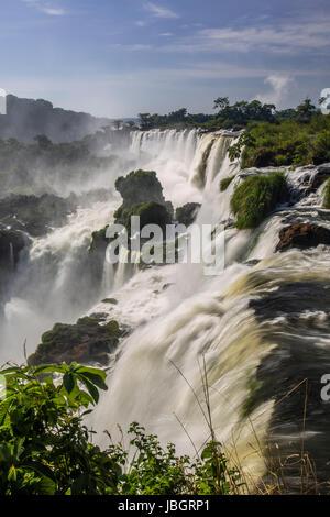 Chutes d'Iguaçu Argentine et Brésil Banque D'Images