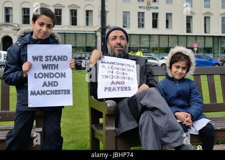 George Square, Glasgow, Ecosse, Royaume-Uni. 11 Juin, 2017. Un « musulmans position contre le terrorisme' démonstration Banque D'Images
