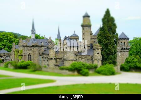 Le château de lion à Kassel Banque D'Images