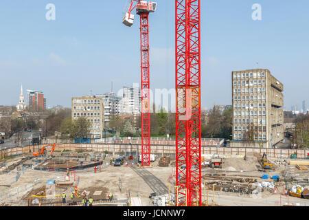 Londres, Royaume-Uni - 27 mars 2017: construction site de Blackwall Reach, un nouveau développement immobilier dans la région de East London