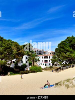 Maison de vacances villa espagne Minorque Banque D'Images