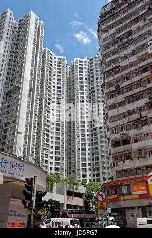 La foule de Hong Kong hébergement Banque D'Images
