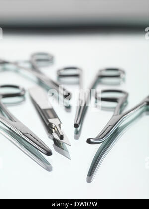 Close up of surgical tools Banque D'Images