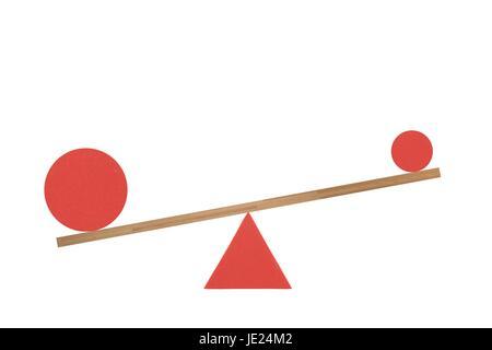 Une image abstraite d'un ensemble de balances balance Banque D'Images