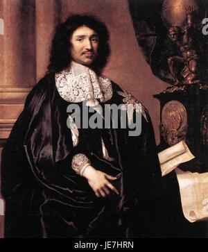 Claude Lefebvre - Portrait de Jean-Baptiste Colbert - WGA12628 Banque D'Images